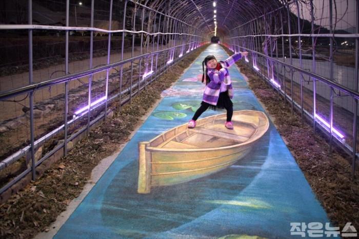 광양시 서천변 꽃 터널, 트릭아트 포토존 변신-도시재생과 1.jpg