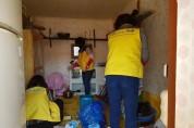 화정면 지역사회보장협의체, 낭도 여산마을 모자가정 청소