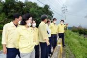 광양시의회, 집중호우 수해현장 방문