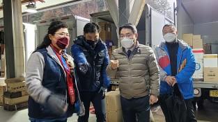 권오봉 여수시장, '택배 터미널 깜짝 방문'…'노동자 격려'