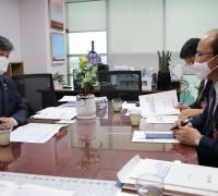 서동용 의원, 전라남도 교육청과 그린스마트 미래학교  추진사업 현황 점검 및 발전 방안 모색